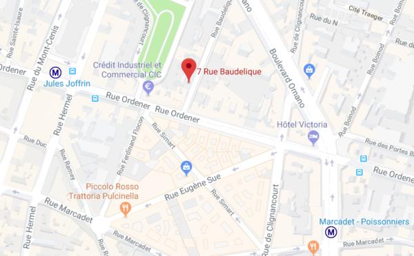 Chambre de bonne 7 rue baudelique paris en vente le 18 - Chambre de commerce bobigny adresse ...