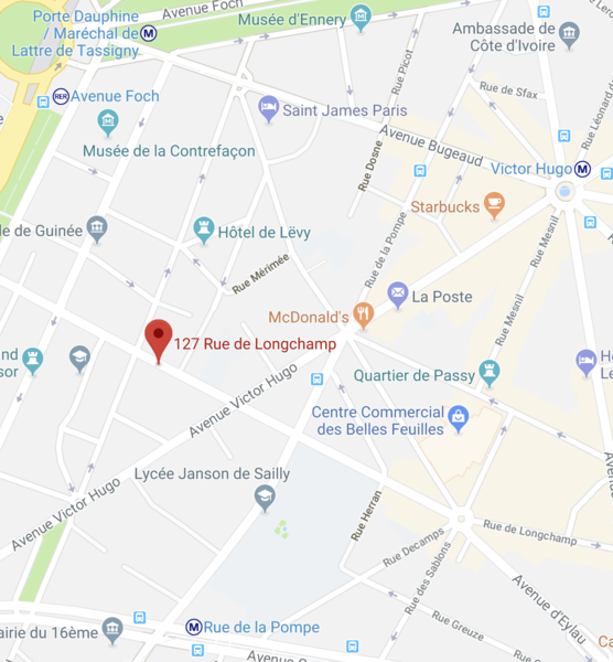 Chambre de bonne 127 rue de longchamp paris en vente le - Chambre de commerce bobigny adresse ...
